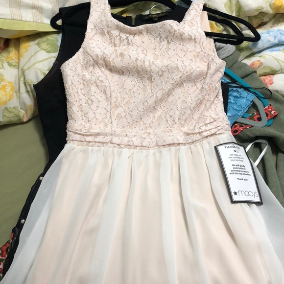 Macy S Dresses Juniors Light Pink Dress Poshmark